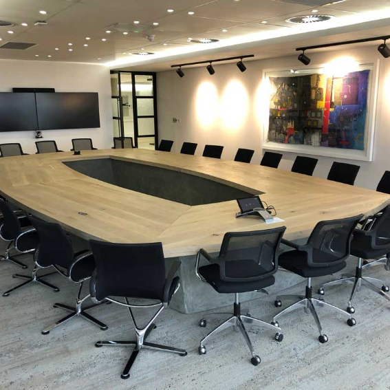 Oak Boardroom Table